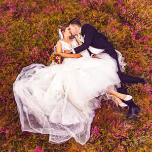 Brautpaar Drohnenfotos